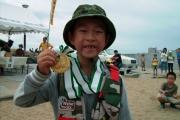 小学生の優勝山田くんの金メダル