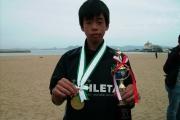 中学優勝の長倉金メダルとカップ